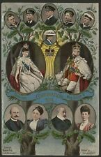 British Royalty Coronation of King George V 1911. Postcard Showing Family Tree.