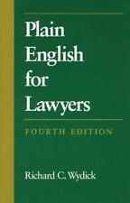 Plain English for Lawyers by Richard C. Wydick (1998, Paperback)