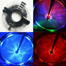 Bicycle Motorcycle Bike Tyre Tire Wheel Valve 8 LED Flash Spoke Light Lamp NEW*