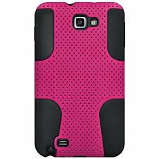 SAMSUNG I717 / T879 / Galaxy Note Pink Black Mesh Hard Soft Hybrid Cover Case