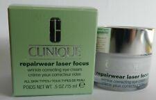 New Clinique Repairwear Laser Focus Wrinkle Correcting Eye Cream 0.5oz/15ml