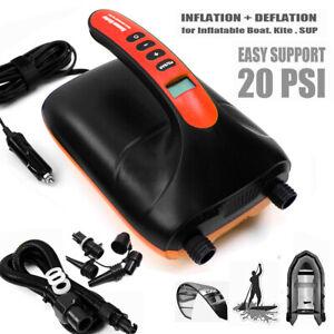 12V DC Electric SUP Inflatable High Pressure Kayak Paddle Boat Air Pump 16/20PSI