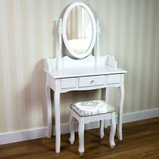 Home Discount Nishano 1 Drawer Dressing Table with Stool, White