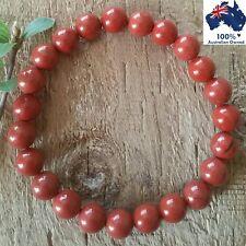 RED JASPER Bracelet Chakra Crystal Healing 100% Natural Gemstones Worry Beads