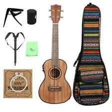 Soprano Concert Acoustic Electric Ukulele 24 Inch Guitar 4 Strings Ukelele
