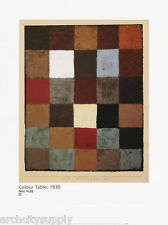 POSTER :ART: COLOUR TABLE 1930  by PAUL KLEE - FREE SHIPPING   #68-10434  LW13 H