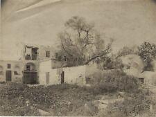 Tunisie Maison Arabe à Tunis Cimetière Photographie Vintage Albumine c1880