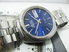 VINTAGE SEIKO 5 ACTUS BLUE DIAL AUTOMATIC 7019 FACET CRYSTAL ORIGINAL BRACELET 2