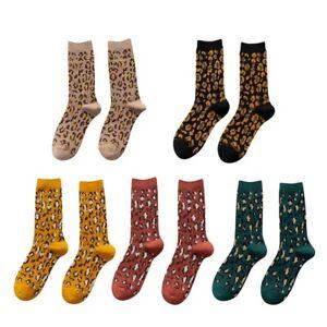 Women Socks 1 Pair Long Cotton Leopard Print Fashion Socks Women Printed No A5M9