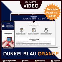 eBay Template Dunkelblau Orange - 3 Auktionsvorlagen/Vorlagen/Designs + EDITOR