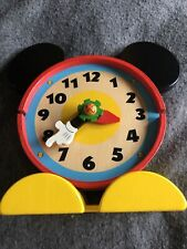 More details for disney store club house mickey mouse wooden tabletop clock collectable rare