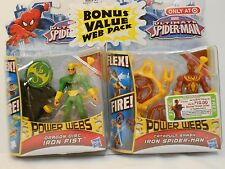 Marvel Ultimate Spider-Man IRON SPIDER-MAN & IRON FIST Power Webs Figure 2-Pack