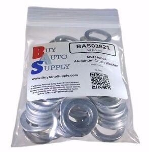 (50x) M14 Aluminum Oil Drain Plug Crush Washer *Fits* Honda Acura 94109-14000