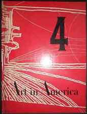 1961 Hardbound Magazine Art in America # 4 Christmas Art, Stamps Designed