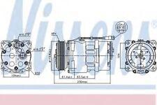 New Compressor air conditioning for CITROEN-FIAT-LANCIA-PEUGEOT 89055 Nissens