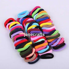 96x Mixed Color Baby Kids Girl Elastic Hair Bands Ponytail Holder Head Rope Ties