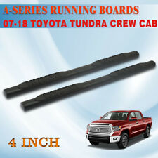 "Fit 2007-2020 TOYOTA Tundra Crew Max 4"" Nerf Bar Running Board Side Step Black A"