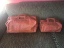 MCM Leather Large Vintage Duffel Travel Gym Weekender Bag & Accessory Bag