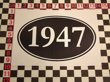 1947 Year Sticker - Morris Austin Standard MG Talbot Bentley Daimler Birthday