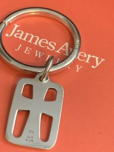 James Cut Out Cross 925SS Key chain ring Car  Retired GIFT BOX