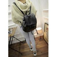 Women Girls Pu Leather Backpack Rucksack Travel Schoolbag Shoulder Bags Satchel