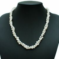 "Long Pearl Necklace White Cultured Freshwater Baroque Pearls 48"" Opera Length"