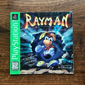 Rayman Ray Man PS1 Playstation 1 PS One Instruction Manual Only
