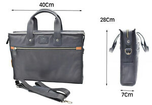 "Leather Executive Bag 17"" Laptop Notebook Flight Business Briefcase Travel Bag"