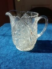 EAPG Arched Cane & Fan Pitcher