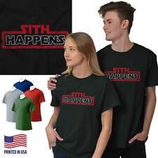 Sith Happens Space Galaxy Movie Nerd Gift Short Sleeve T-Shirt Tees Tshirts