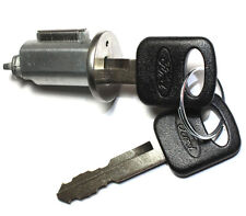 NEW Ford Ignition Key Switch Lock Cylinder With 2 OEM Rubber Head Ford Logo Keys