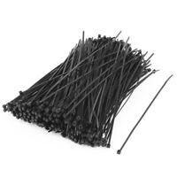 Network Nylon Cable Wire Zip Tie Cord Strap 2x150mm 500pcs Black Y9N6
