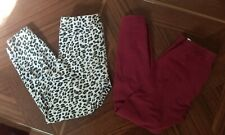 Toddler Girls Leggings Lot Size 5t burgundy cheetah