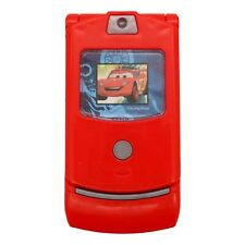 Toy Flip Phone (Cars, Red) Pretend Play, Dialing Sounds, Toy Toddler