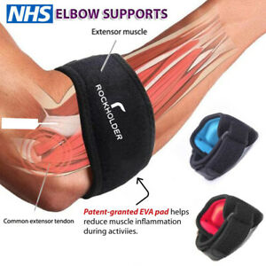 Tennis Elbow Support Brace Strap for Arthritis/Golfers pain Band with EVA pad uk