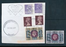 GB 1977 SILVER JUBILEE 9p COLOUR CHANGELING USED on PIECE