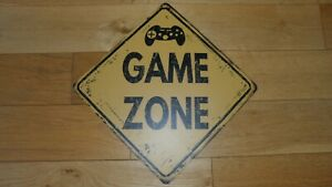 Fab Metal Game Zone Wall Hanging Sign, Xbox, PS4/5, 30 x 30cm