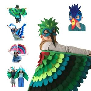 Kids Costume Owl Bird Wing with Mask Halloween Girls Animal Outfit Toddler Gifts
