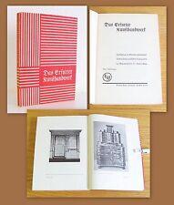 Kunze Das Erfurter Kunsthandwerk 1929 EA 52 Tafeln Antiquitäten Katalog Möbel xz