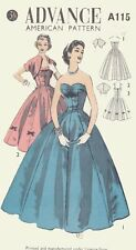 Beautiful Vintage Evening Gown Dress & Bolero Sewing Pattern A115 Size 15