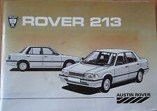 ROVER 213 213S & 213SE manuale del proprietario controlla & operativo di manutenzione le riparazioni BK