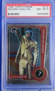 "1999 Topps Chrome Richard ""Rip"" Hamilton #114 ROOKIE Card RC PSA 8"