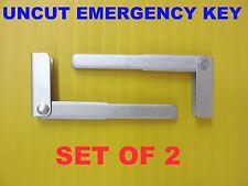 NEW Set of 2 Emergency Keys For Land Rover Jaguar PROX Remotes KOBJTF10A