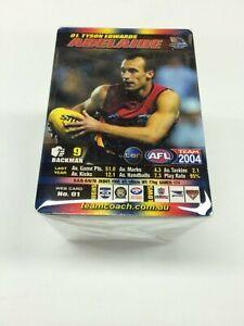 2004 AFL Teamcoach Trading Card Full Base Card Set (150)