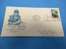 First Day Cover, United Nations Children's Fund, UNICEF, 1961, FDC