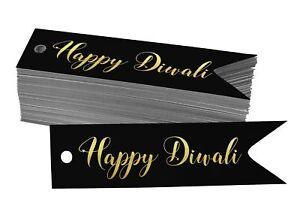 Real Foil Paper Tags Happy Diwali Favor Tags-DW-SH1_17BG