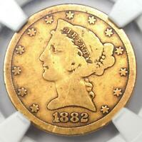 1882-CC Liberty Gold Half Eagle $5 Coin - NGC AG Details - Rare Carson City!