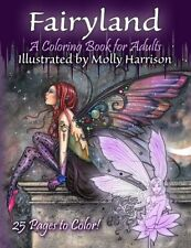 Fairyland Coloring Book For Adults Fantasy Coloring for Grownups Molly Harrison