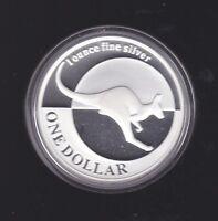 2004 Australia $1 Ounce 1oz Silver Proof Kangaroo Coin