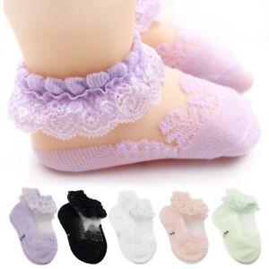 Cute Lace Flower Baby Socks Newborn Toddler Baby Girl Princess Anti Slip Socks